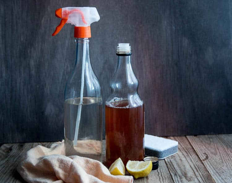 It isn't difficult to make a non-toxic, multi purpose DIY cleaning spray that is effective for cleaning the kitchen and other areas of your house.