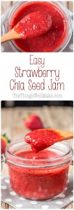 Super quick and easy to make, this strawberry chia seed jam can be whipped up with minimal time and effort, and doesn't need excess sugar for gelling.
