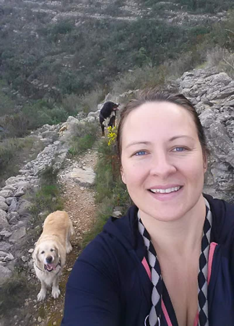 One of my last hikes with Sheena.