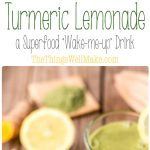 "Start the day off right with this green turmeric lemonade, a superfood ""wake-me-up"" drink packed with antioxidants and vitamins."