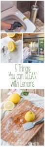 Lemons are great for green cleaning around the house. Learn about 5 things that you can clean with lemons.