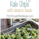 Making the best crispy kale chips is easy with this recipe that will help you quickly make a satisfying, healthy chip for those days you're craving something salty and crispy. The addition of gomasio adds a fun flavor kick with nutritioussesame seeds and seaweed.