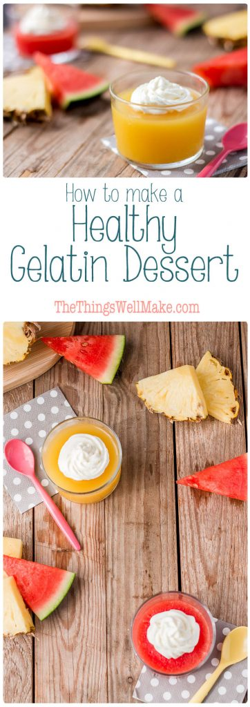 Ditch the artificial colors and flavorings by making your own Jell-O like healthy gelatin dessert using fresh fruits and fruit juices.