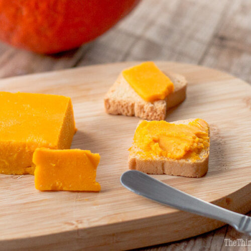 With it's beautiful natural orange color befitting of cheddar, this paleo vegan pumpkin cheese is a fun and healthy way to enjoy pumpkins and butternut squash. You can also use my tips to make other types of vegetable cheese.