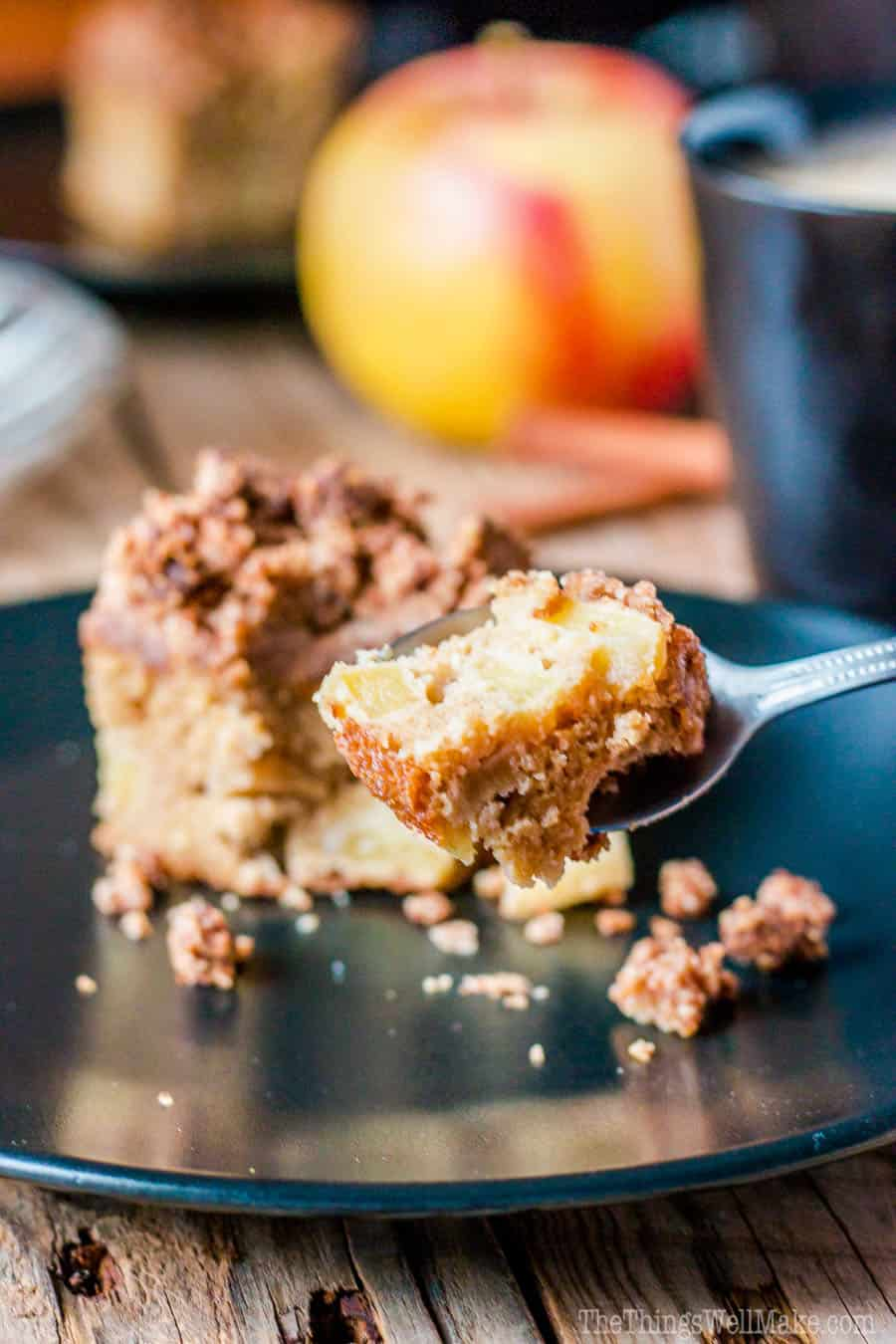 With fall apples giving this coffee cake its moist texture, which contrasts with its crispy crumb topping, this paleo apple crumb cake is definitely one of my favorite paleo treats.