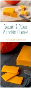 With it's beautiful natural orange color befitting of cheddar, this paleo vegan pumpkin cheese is a fun and healthy way to enjoy pumpkins and butternut squash. You can also use my tips to make other types of vegetable cheese