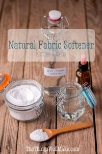 Skip the strong, artificial scents and chemicals in store-bought alternatives by using these DIY, natural fabric softeners that are inexpensive, easy to use, and non-toxic. #thethingswellmake #miy #laundry #fabricsoftener #laundry #wash #washing #naturalcleaning #naturalcleaningproducts #cleaning #greencleaning #greenliving #greenlivingtips