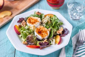 Easy, Festive Caramelized Goat Cheese Salad with Walnuts