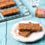 These crunchy energy nut bars are easy to make and store well for when you need a quick, healthy snack on-the-go. I call them paleo granola bars, and the recipe is grain free and highly customizable to suit your taste.