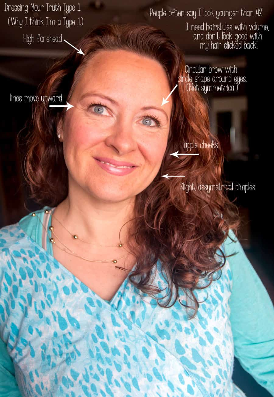 Following the Dressing Your Truth Program has been a lot of fun, and has given me a new insight into who I really am. Check out my review, my Type 1 before and after pictures, and how I profiled myself. This is how I profiled my face.