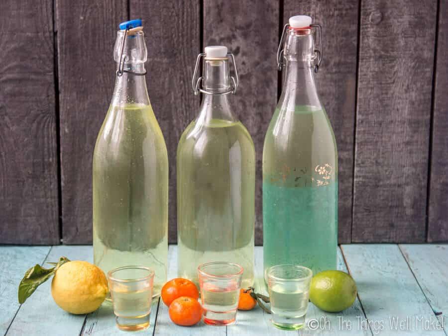 How to Make Homemade Limoncello, Limecello, and Mandarinecello (2 Ways)