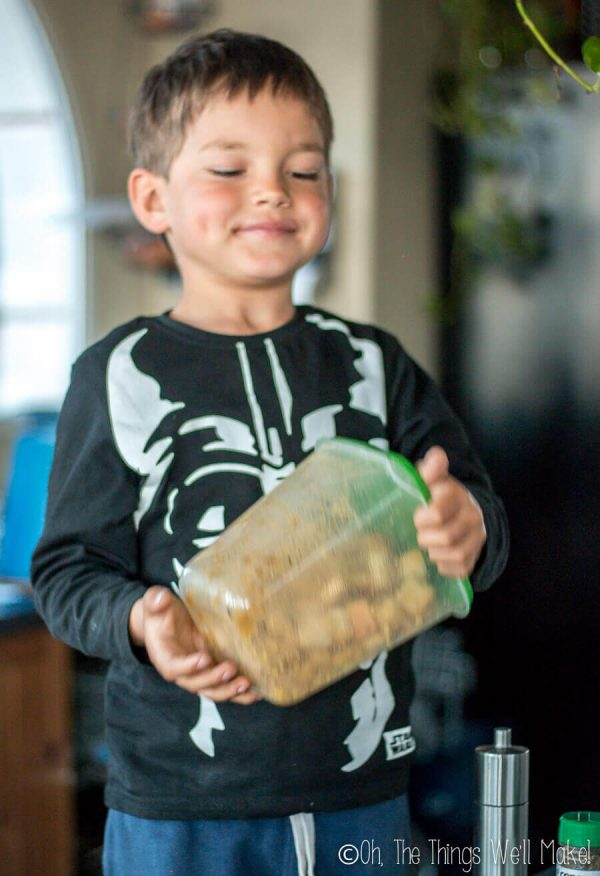 Don't let your stale bread go to waste! My young son and I will show you how to make homemade croutons from bread. It's so easy that it's a great beginner recipe for kids!