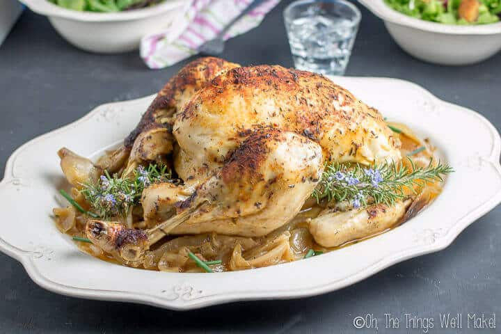 Simple and with little prep time, this easy, slow cooker whole chicken recipe is great for busy evenings.