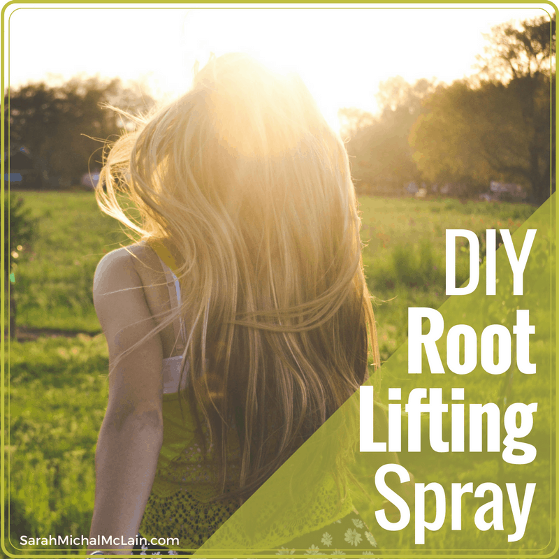 DIY hair root lifting spray