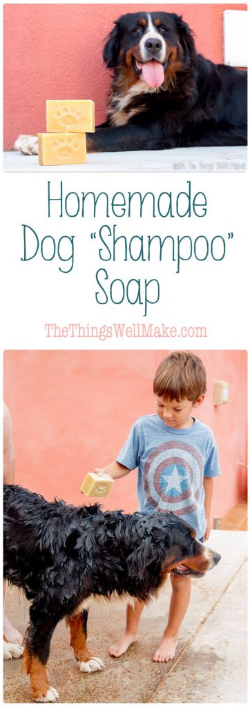 Get your dog clean the easy way with this dog soap recipe. I'll show you how to make a homemade dog shampoo soap bar, and how we use it to clean our pup.