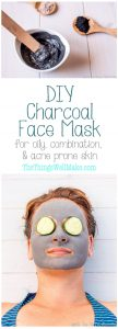 Clear up your skin with this easy, DIY charcoal face mask which is great for oil, combination, and acne prone skin.