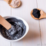 Clear up your skin with this easy, DIY charcoal face mask which is great for oily, combination, and acne prone skin. #activatedcharcoal #bentoniteclay #facialmask