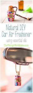 Keep your car smelling fresh with this easy, natural DIY car air freshener using the essential oils of your choice.