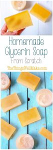 Perfect for those with sensitive skin, this homemade glycerin soap recipe makes a hard bar of soap that lathers nicely while gently cleansing and moisturizing your skin.