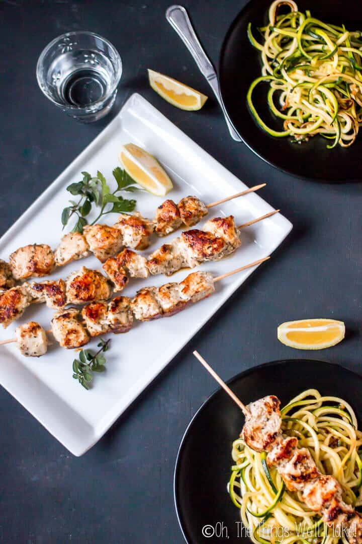 Puerto Rican pinchos de pollo, marinated chicken kebabs, are traditional street food in Puerto Rico and can be made from pork or chicken that has been marinated in a tangy sauce and then grilled to perfection.