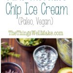 Creamy and refreshing, this mint chocolate chip ice cream recipe is quick and easy to make for a healthy treat that is paleo and vegan diet friendly.