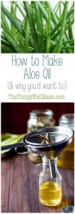 Aloe oil has numerous benefits for skin and hair, and can be used in a number of ways. Learn how to make aloe oil, why you would want to, and how to use it.