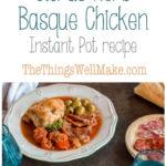 citrus herb Basque chicken Pinterest pin image