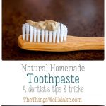 Photos of homemade natural toothpastes