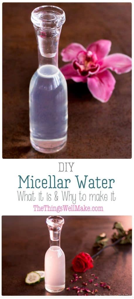 An easy to make, gentle all-in-one cleanser, this DIY micellar water is perfect for thosewith sensitive skin. Find out what micellar water is, if you should be using it, and how to make your own. #micellarwater #micelles #cleanser #face