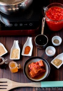 ingredients for making an easy homemade barbecue sauce