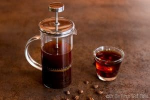 making cold brew coffee in a french press
