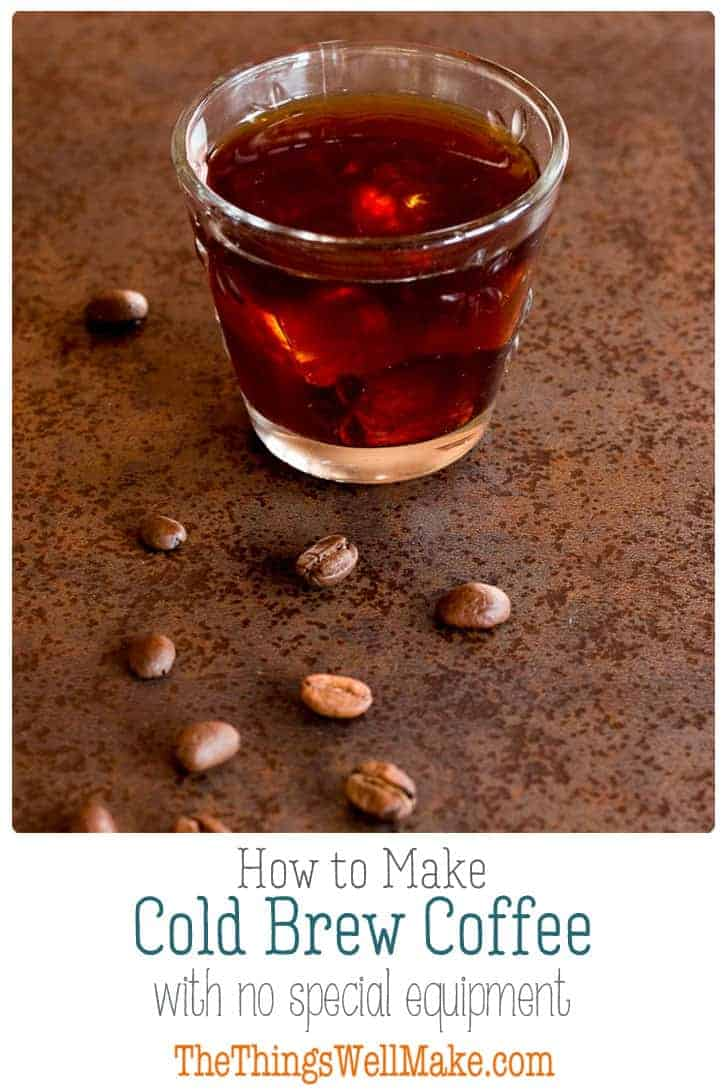 Easy to brew, sweeter, yet more intense, cold brew coffee can be made ahead and stored for several days. Learn how to make cold brew coffee and save time in your morning routine. #coffee #coldbrew #coldbrewcoffee