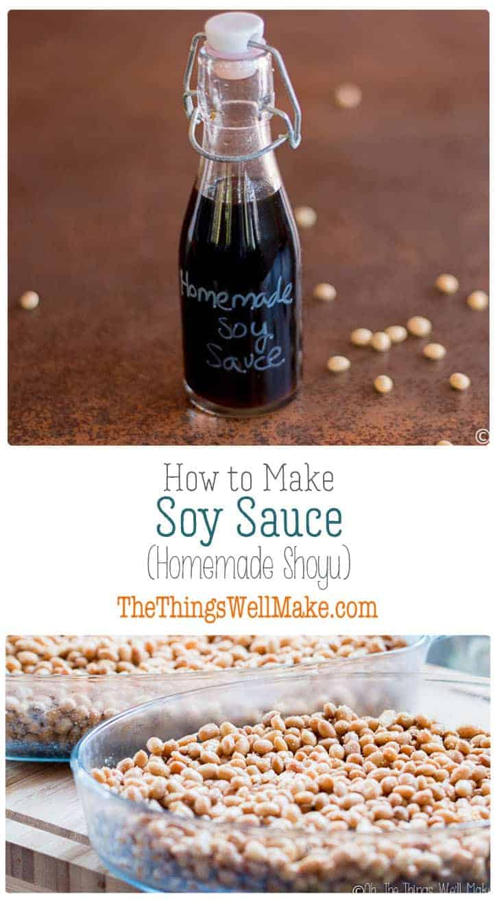 Impress your friends and save money by making your own soy sauce from scratch. Today we'll learn how to make a homemade shoyu, a fermented Japanese soy sauce made from soybeans and wheat berries. #thethingswellmake #miy #shoyu #soysauce #condiments #sauces #saucerecipes #asianrecipes #fermentedfoods #fermented