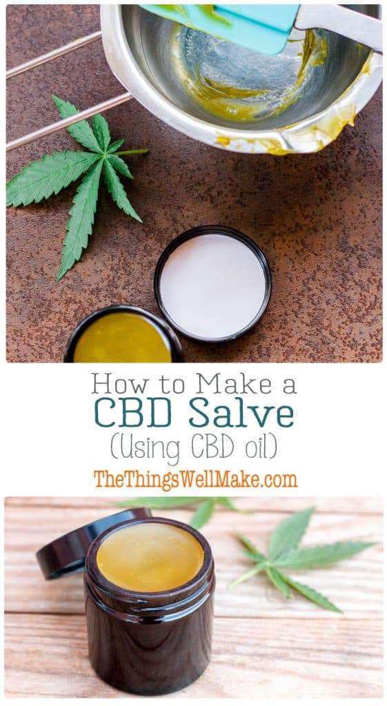 Many people use CBD salves on their achy or stiff joints and muscles. Today I'll show you how to make a CBD salve using CBD oil that can be easily obtained in the United States and many other countries. #cbdoil #cbd #cannabis #salve #cbdsalve
