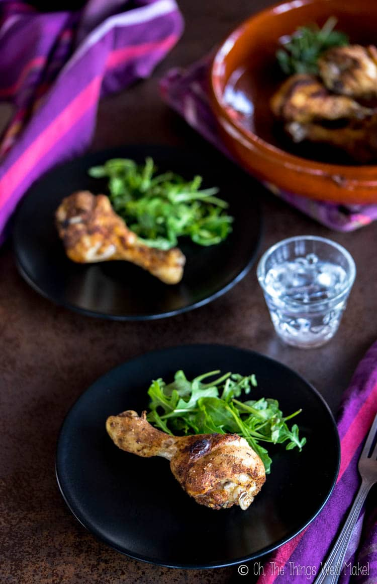 A photo of keto chicken drumsticks made from the Keto Cooking with your Instant Pot book by Dr. Karen Lee