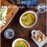 An ideal, hearty comfort food, this paleo egg drop soup can be whipped up in a matter of minutes and is gluten and corn-free. Learn how to make restaurant quality egg drop soup with perfectly silky egg ribbons.#thethingswellmake #eggdropsoup #chinesefood #paleosoups #asiansoups #chinesesoups #healthysoups