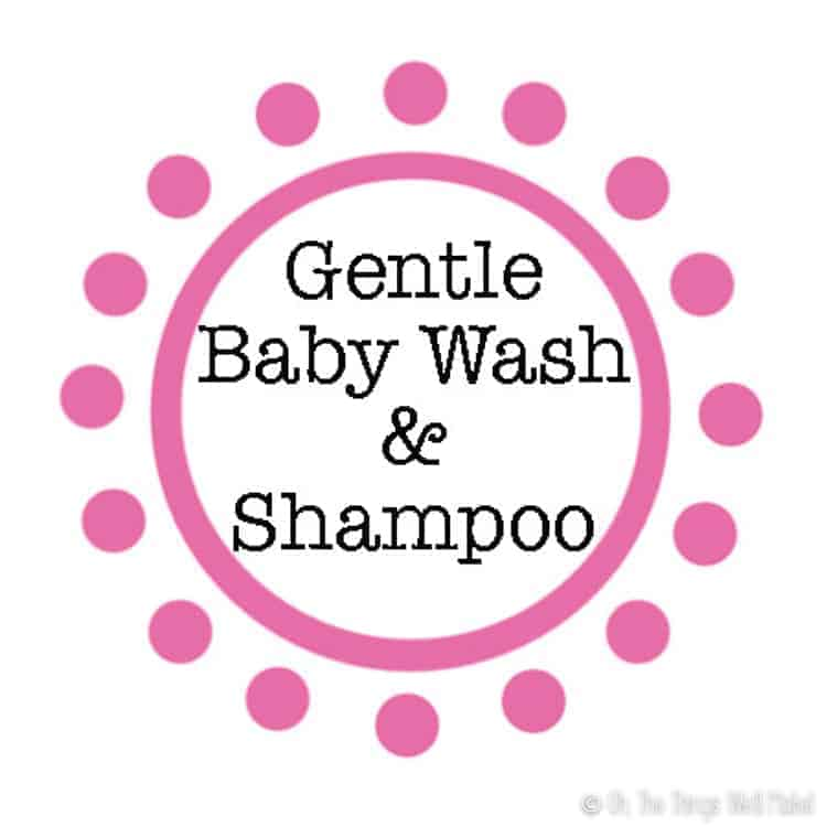 Gentle Baby Wash and Shampoo label