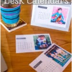 Looking for a last-minute, easy holiday gift idea that will be treasured all year long? Why not make your own photo calendar using a flip photo frame that can be reused year after year. #calendar #giftideas #photocalendars #photogifts #homemadegifts #thethingswellmake #miy