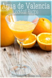 Fresh orange juice and cava take center stage in this agua de Valencia recipe. Learn how to make this popular Spanish cocktail reminiscent of the mimosa. #cocktails #cocktailrecipes #spanishrecipes #orangerecipes #thethingswellmake #miy #mimosa