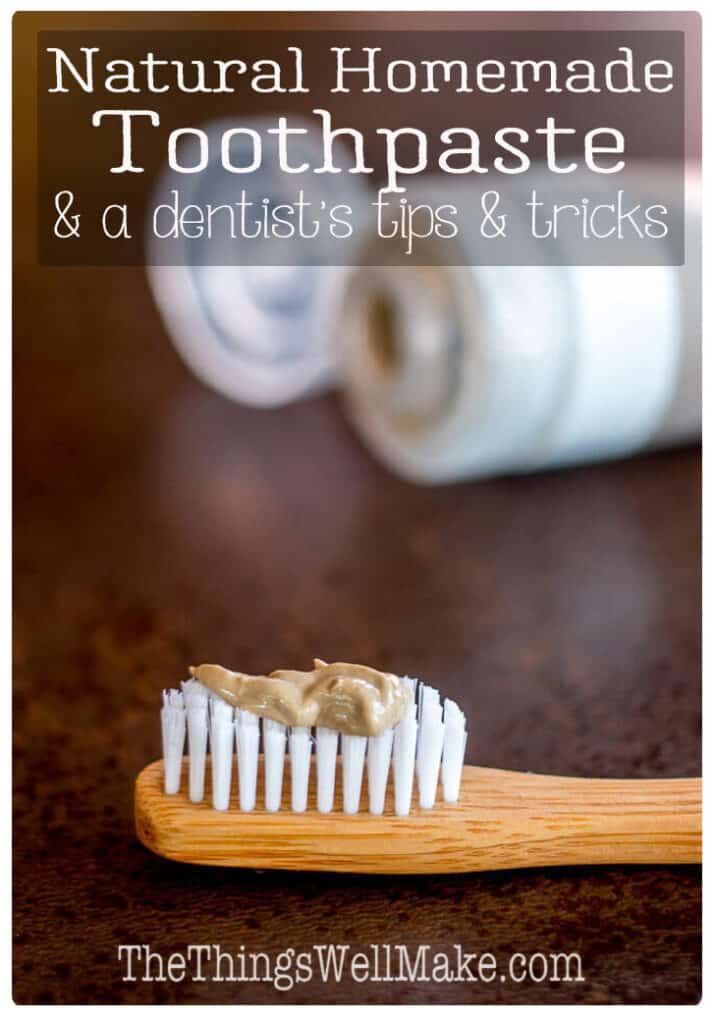 Brush and protect your teeth naturally with these homemade toothpaste recipes and tips for optimal dental hygiene from a dentist. #toothpaste #miy #homemadetoothpaste #dentist #natural #oralhealth