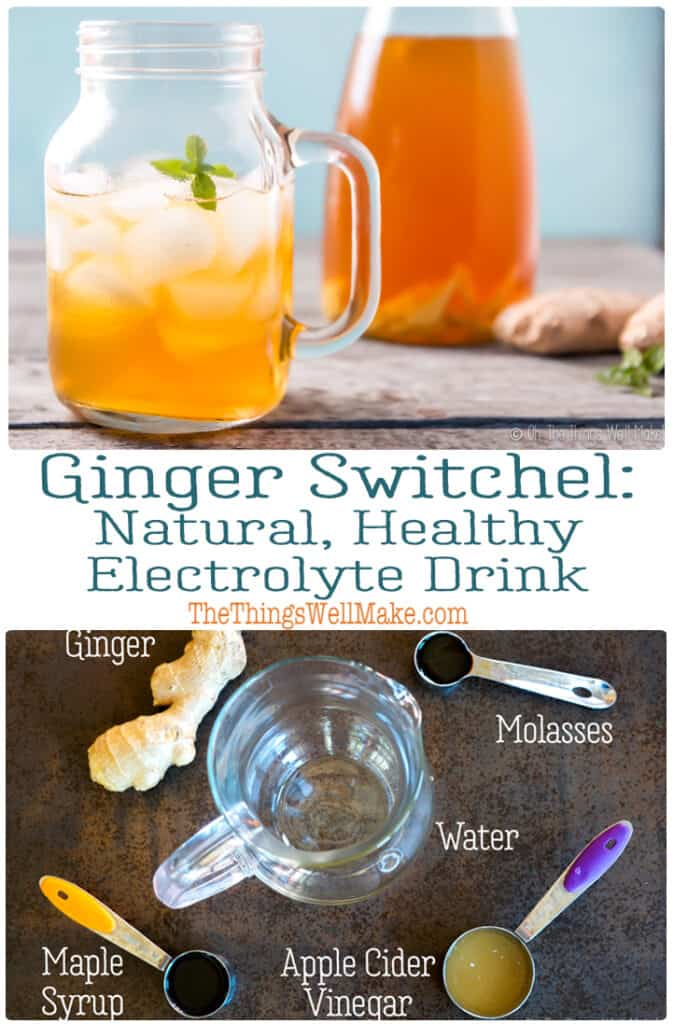 One of the most refreshing and natural electrolyte drinks, the ginger switchel, also known as Haymaker's punch, is regaining popularity partly because of its health benefits, and partly just because it is delicious and perfectly hydrating. #switchel #gingerrecipes #thethingswellmake #healthydrinkrecipes #summerrecipes