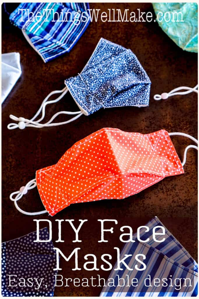 Forced to wear a mask? Most face masks are uncomfortable and make it difficult to breathe. These are the most comfortable, breathable mask patterns that I have found after testing out many models. #facemask #sewingtutorials