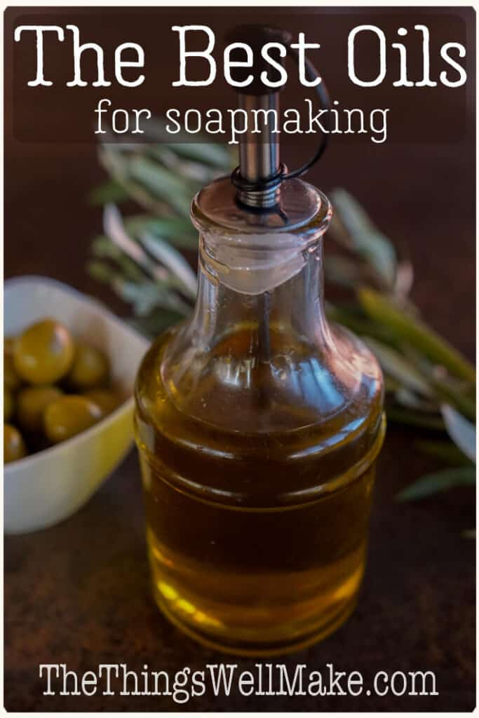 Using different oils and fats will give your soaps different properties. Understanding these tendencies will help you formulate better soaps to suit your needs. Learn how to harden, add lather, and improve soaps by varying the oils in the recipe. #soapmaking #soaps #oils #carrieroils #thethingswellmake #miy