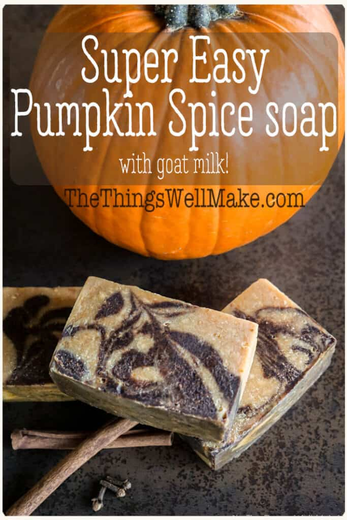This super-easy pumpkin spice soap combines pumpkin puree and goat's milk with fall spices, making a soap that is nourishing and wonderfully fragrant.