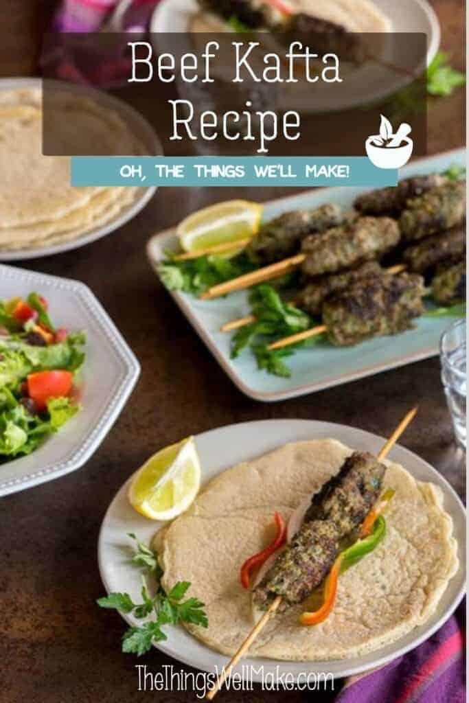 Moist and flavorful, kafta is a type of homemade Lebanese kebab made with ground meat and spices. It's an easy, healthy dish that can be made on the skillet, BBQ, or in the oven. #kafta #kofta #paleodinners #lebanesecuisine #thethingswellmake #miy #kebabs #bbq