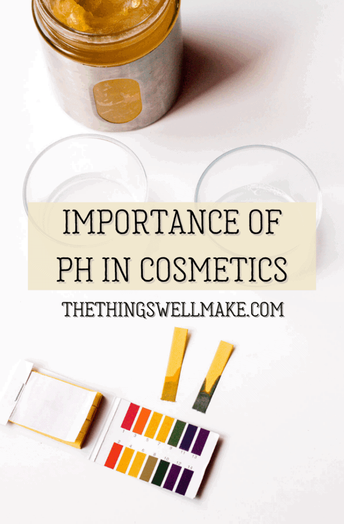Knowing the pH is important when formulating cosmetics. Why, though, is it important? How should you test it? And how do you adjust it when needed? #pH #naturalskincare #homemadecosmetics #diycosmetics #miy #thethingswellmake