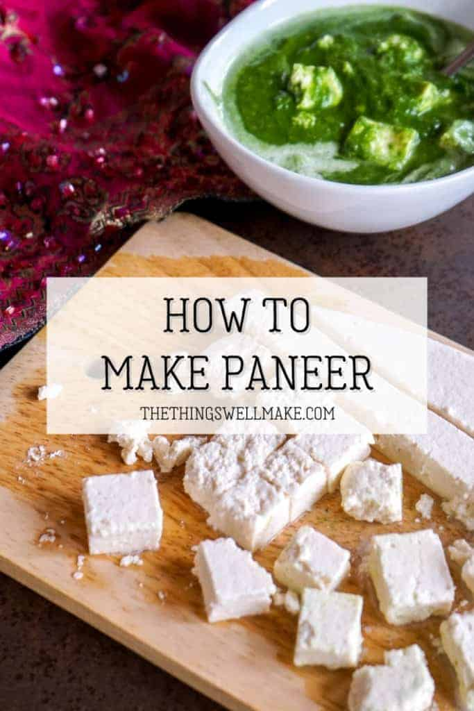 Soft and mild, paneer is a delicious fresh Indian cheese that is easily made at home with just a couple of simple ingredients that you probably already have in your kitchen. Learn how to quickly make paneer and how to use it! #cheeses #indiancuisine #indianrecipes #cheeserecipes #miy #thethingswellmake