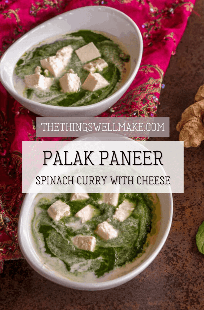 A delicious way to add some healthy leafy greens to your diet, palak paneer is a flavorful Indian dish that combines a creamy, spice-infused spinach puree with fresh paneer. #indiancuisine #thethingswellmake #miy #spinachrecipes #cheeserecipes