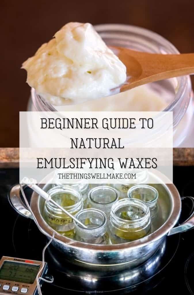 One of the most important ingredients in cosmetic formulation, emulsifiers allow you to combine water-based and oil-based ingredients, forming a smooth product that glides over your skin and hair. Learn what they are, why and how to use them, and which are some of the best to use. #emulsifiers #cosmetics #naturalskincare #naturalhaircare #thethingswellmake #miy