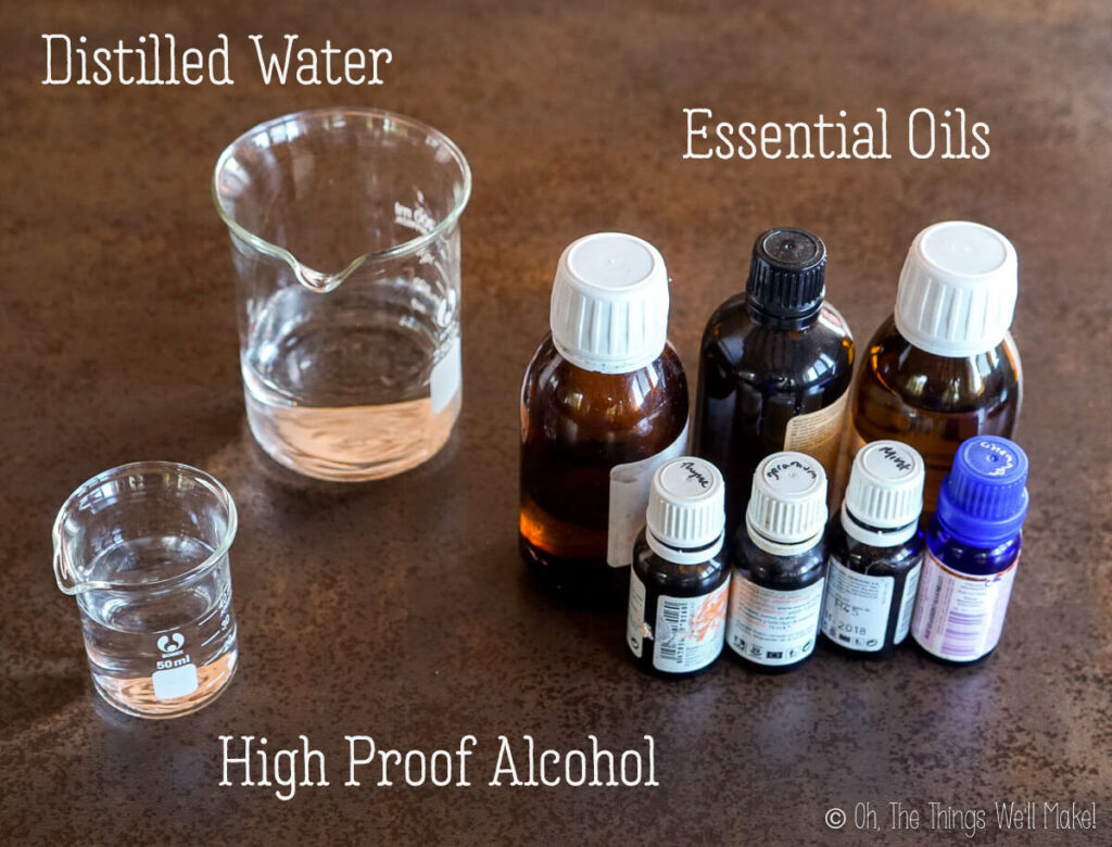 Ingredients for a lice prevention spray